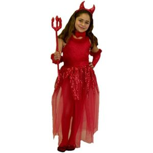 Childs-Girls-Devil-Costume-SizeLarge-10-12-0