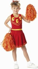 Childs-Red-Gold-Cheerleader-Costume-Size-Large-10-12-0