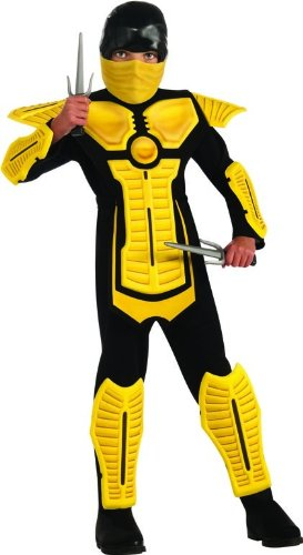 Child's Yellow Ninja Costume