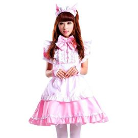 Colorful-House-Womens-Cosplay-Cat-Ear-French-Apron-Maid-Fancy-Dress-Costume-0-0