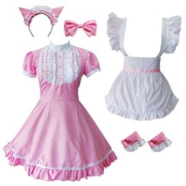 Colorful-House-Womens-Cosplay-Cat-Ear-French-Apron-Maid-Fancy-Dress-Costume-0-4