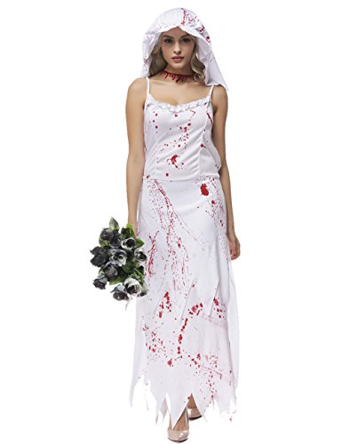 colorful house womens ghost bride fancy dress zombie