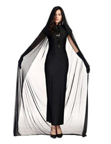 Colorful-House-Womens-Halloween-Costume-Black-Ghost-Zombie-Dress-Cloak-Outfit-0