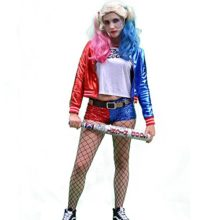 Complete-Harley-Quinn-Suicide-Squad-Premium-Costume-with-Full-Outfit-Wig-Makeup-and-Bat-0