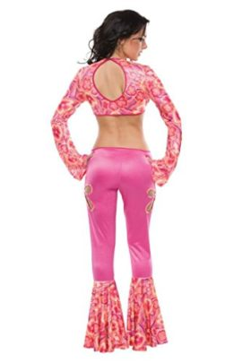 Coquette-Womens-Radically-Retro-Hippie-Jumpsuit-Outfit-Fancy-Dress-Sexy-Costume-0-0
