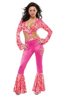 Coquette-Womens-Radically-Retro-Hippie-Jumpsuit-Outfit-Fancy-Dress-Sexy-Costume-0