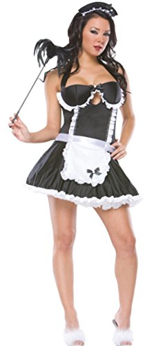 Coquette Womens Retro French Maid Housekeeper Outfit Fancy Dress Sexy Costume