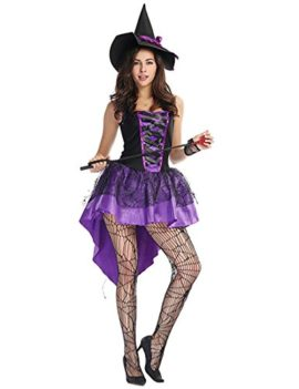 Corgy-Womens-3-Piece-Devil-Dress-Halloween-CostumeCobweb-Witch-Dress-Costume-with-Hat-Purple-0
