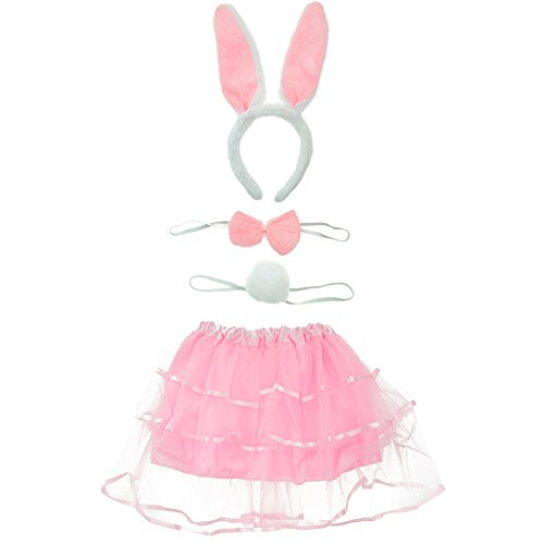 Cosplay-Costume-Bunny-Ears-Hair-Hoop-Headband-Bow-Ties-Tutu-Skirt-Tail-Set-0