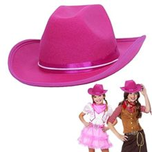 Cowboy-Cowgirl-Pink-Hat-Child-Country-Pink-Cowboy-Felt-Costume-Hat-0