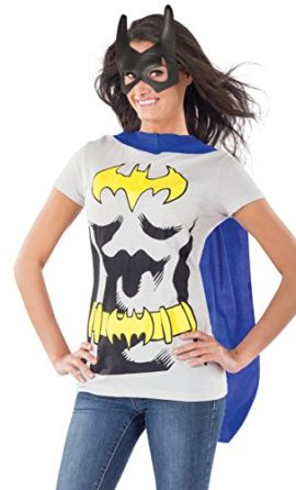 DC-Comics-Batgirl-T-Shirt-With-Cape-And-Mask-0