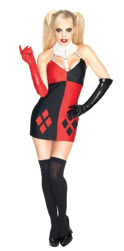 DC Comics Secret Wishes Super Villain Harley Quinn Costume