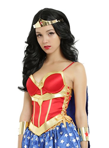 DC Comics Wonder Woman Lace-Up Corset With Detachable Cape