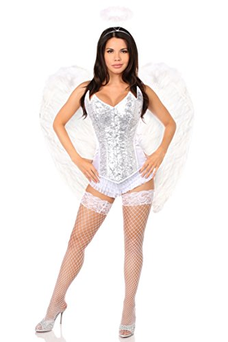 Daisy Corsets Women's 4 Pc Sweet Angel Corset Costume