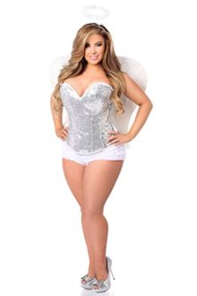 Daisy-Corsets-Womens-Plus-Size-Top-Drawer-4-Piece-Sexy-Silver-Sequin-Angel-Corset-0