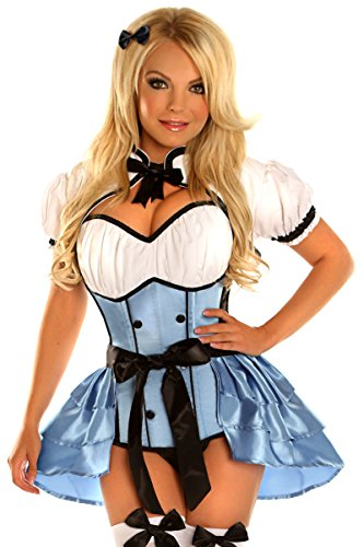 Daisy Corsets Women's Top Drawer Plus Size 4 Piece Alice Costume