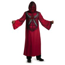 Disguise-74298L-Devil-Hooded-Print-Robe-Child-Costume-Small-4-6-0