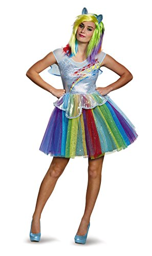 Disguise Women's My Little Pony Rainbow Dash Deluxe Costume