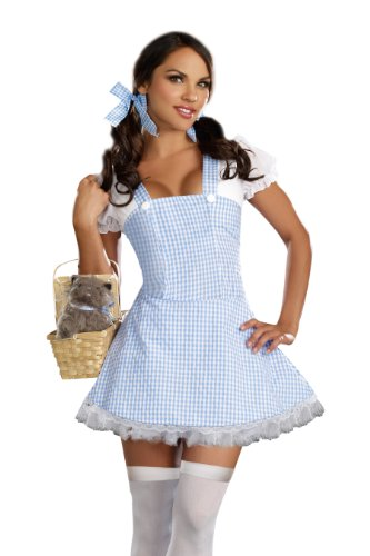 Dreamgirl Women's Blue Gingham Dress