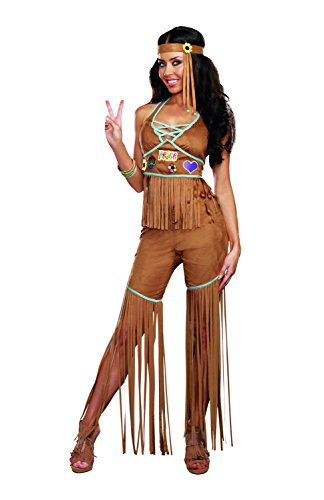 Dreamgirl Women's Peace Out 60's 70's Hippie Costume