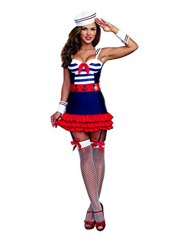 Dreamgirl Women's Sailor's Delight Sea Captain Costume