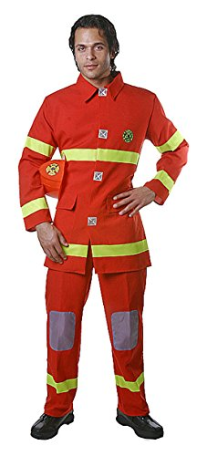 Dress Up America Adult Red Fire Fighter