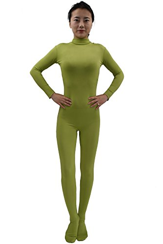Ensnovo Womens Lycra Spandex Zentai Suits One Piece Footed Unitard