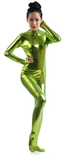 Ensnovo-Womens-Shiny-Metallic-Zentai-Suit-Wetlook-Spandex-Turtleneck-Unitard-0-0