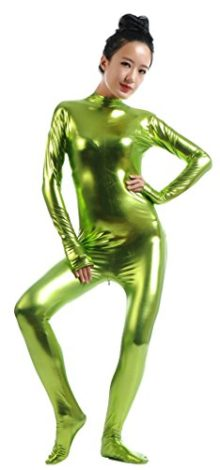 Ensnovo-Womens-Shiny-Metallic-Zentai-Suit-Wetlook-Spandex-Turtleneck-Unitard-0