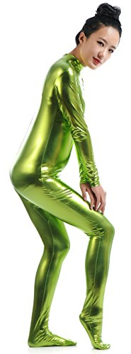 Ensnovo-Womens-Shiny-Metallic-Zentai-Suit-Wetlook-Spandex-Turtleneck-Unitard-0-4