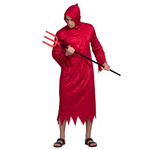 EraSpooky Men's Halloween Handsome Red Devil Costume