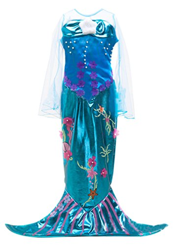 Eyekepper Little Girls' Mermaid Costume Halloween Costume Mermaid Dress