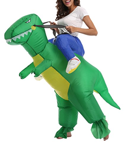 FS Adult Child Inflatable Rider Costume Fancy Halloween Cosplay Blow Up Suit