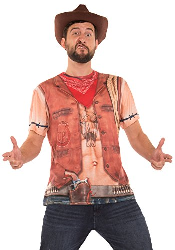 Faux Real Men's Sexy Cowboy Printed T-Shirt