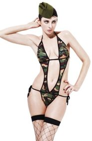 Fever-Womens-Army-Commando-Bodysuit-and-Hat-0