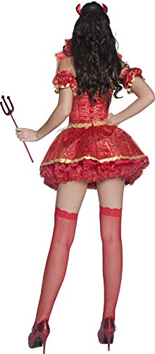 Fever-Womens-Boutique-Devil-Costume-Dress-Overskirt-Collar-Horns-and-Sleeves-0-0