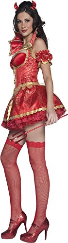 Fever-Womens-Boutique-Devil-Costume-Dress-Overskirt-Collar-Horns-and-Sleeves-0-1