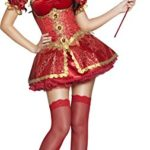 Fever-Womens-Boutique-Devil-Costume-Dress-Overskirt-Collar-Horns-and-Sleeves-0