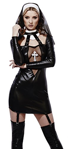 Fever Women's Miss Behave Nun Costume