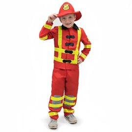Flamin-Firefighter-Childrens-Halloween-Dress-Up-Theme-Party-Roleplay-Costume-0