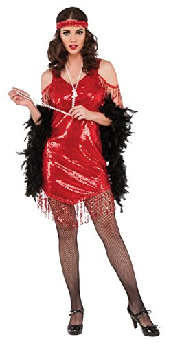 Flapper-Adult-Costume-Red-Small-0