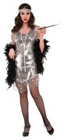 Flapper-Adult-Costume-Silver-Large-0