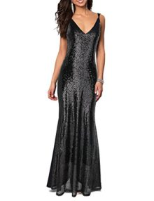 Flapper-Girl-Womens-Backless-Sexy-Mermaid-Deep-V-Neck-Sequin-Long-Evening-Prom-Dress-0