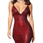 Flapper-Girl-Womens-Sexy-Sleeveless-Sequin-Bodycon-Deep-V-Neck-Club-Wear-Mini-Party-Dress-M-burgundy-0