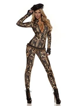 Forplay-Womens-Camo-Print-Zip-Front-Catsuit-and-Gloves-0