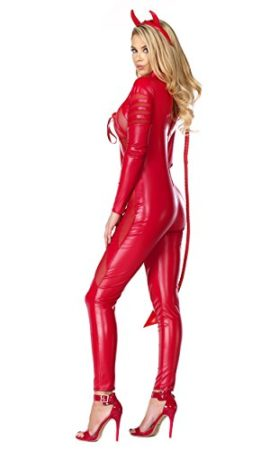 Forplay-Womens-Vile-Vixen-Matte-Catsuit-with-Mesh-Insets-and-Headband-0-0