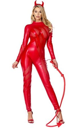 Forplay-Womens-Vile-Vixen-Matte-Catsuit-with-Mesh-Insets-and-Headband-0-1