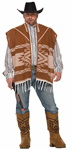 Forum Men's Western Lonesome Cowboy Poncho and Shirt Combo Costume