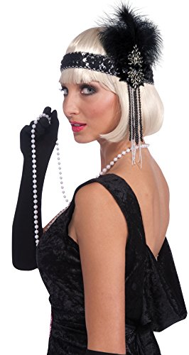Forum-Novelties-Roaring-20s-Deluxe-Black-and-Silver-Flapper-Headband-0-0