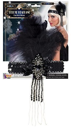 Forum-Novelties-Roaring-20s-Deluxe-Black-and-Silver-Flapper-Headband-0